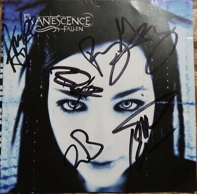 Evanescence Fallen CD Signed Autographed WHOLE BAND Amy Lee & Ben Moody RARE