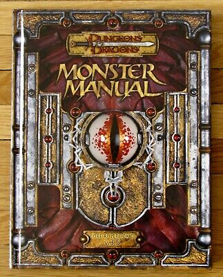 Dungeons & Dragons MONSTER MANUAL Core Rulebook III 3.5 D&D 2003 L4