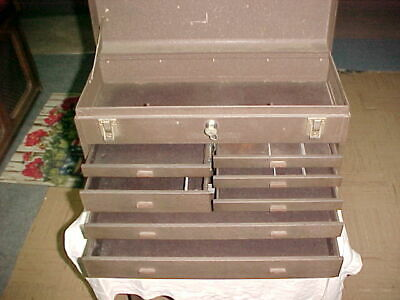 Vintage Kennedy Portable Machinists Tool Chest 7 Drawers Tool Box Very Clean