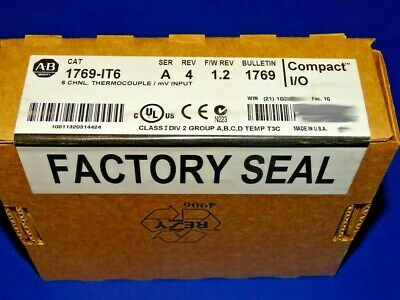 FACTORY SEALED Allen Bradley 1769-IT6 /A Thermocouple YEAR DATES VARY