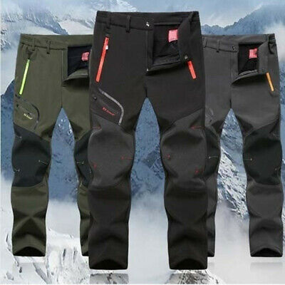 Men Cargo Pants Waterproof Skiing Thicken Snowboard Snow Trousers Pants Winter
