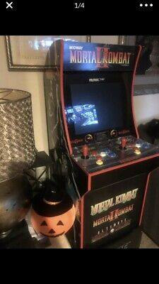 3 in 1 Arcade1Up Mortal Kombat 2 Machine, 4ft Black (PreOwned) With Stand