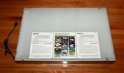"""New Gagne Porta-Trace 2436 Stainless Steel White 80 Light Box 120W 24x36"""""""