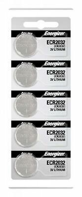 5 Piece Fresh ENERGIZER CR2032 WATCH BATTERIES 3V LITHIUM CR 2032 DL2032 BR2032