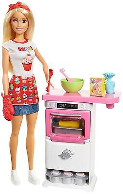 Barbie FHP57 CAREERS Baking Feature Doll And Playset Colourful Accessories, For
