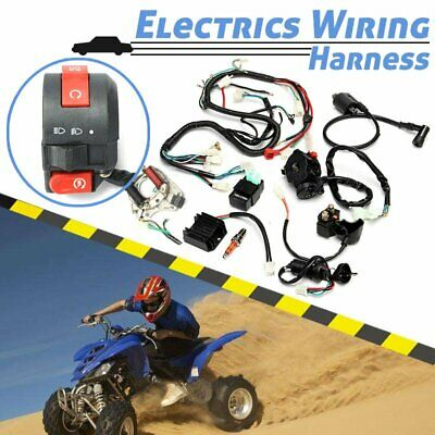 50cc-125cc CDI Wire Harness Assembly Wiring Set Chinese ATV Electric Quad AUOXJD