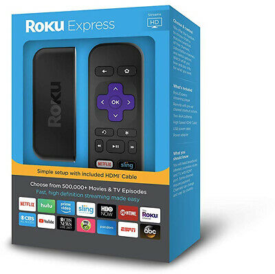 Roku Express | Easy High Definition (HD) Streaming Media Player...NEW in BOX
