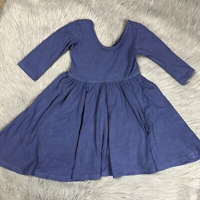 c58bb229870d Alice And Ames Toddler Girls Dutch Blue Long Sleeve Ballet Dress 4T
