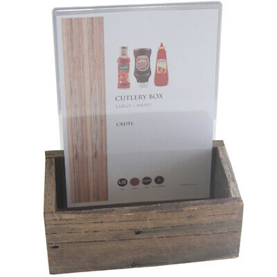 Bulk buy 15 x Distressed CUTLERY BOX LARGE SIZE 4 x A4 card holders per box