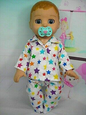 Dolls clothes for LUVABELLA  DOLL~COLOURFUL STARS WINTER PYJAMAS & BED SOCKS