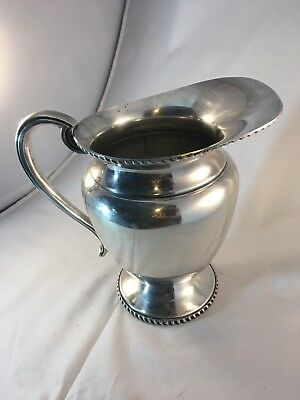 Vintage Silver Water Wine Pitcher Jug Collectible Portsmouth SPC 966 EUC