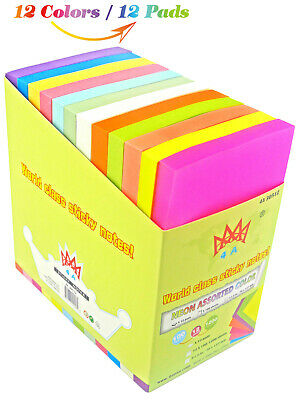 Business & Industrial 4A Sticky Notes Memo Reminder Neon Assorted ...