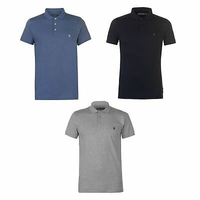 French Connection J Polo Shirt Mens Collared Top Tee Light Blue Small