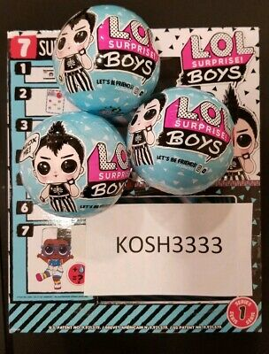 2019 Authentic Lol Surprise Boys Dolls Series 1 Blue Ball New/Sealed Lot Of 3