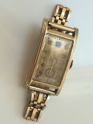 Rare Vintage Art Deco 1930's Gold Filled Helbros Watch