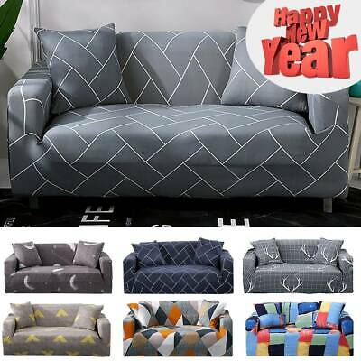 1/2/3 Seater Elastic Sofa Covers Slipcover Settee Stretch Couch Protector ws