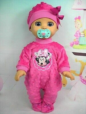 Dolls clothes for LUVABELLA DOLL~ HOT PINK MINNIE MOUSE BOBBLE JUMPSUIT ~ HAT