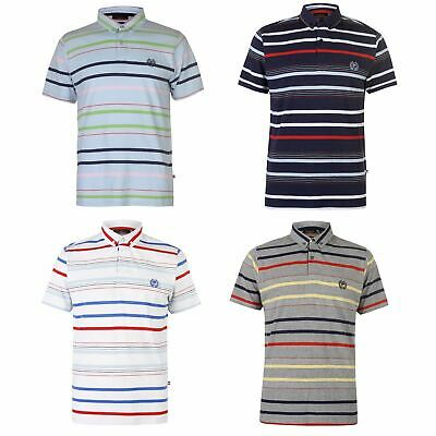 Pierre Cardin Stripe 4 Polo Shirt Mens Collared Top Tee Navy Large