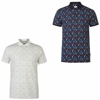 Soviet Paisley Polo Shirt Mens Collared Top Tee Multi Small