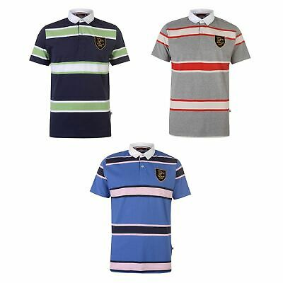 Pierre Cardin SS Rugby Polo Shirt Mens Collared Top Tee Royal Small