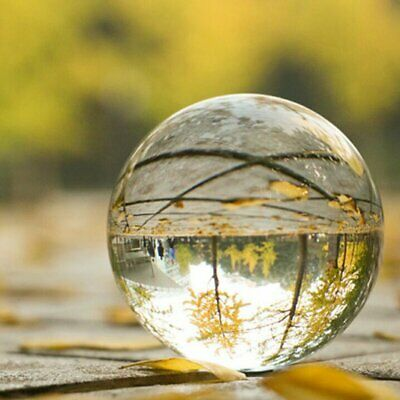 Clear Glass Crystal Ball 100mm Photography Lens Photo Prop Background Sphere BT
