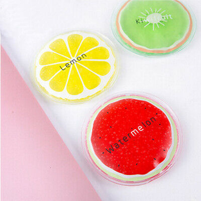 3pcs Reusable Gel Ice Packs Fruit Cold Therapy Packs for Children Adults AU