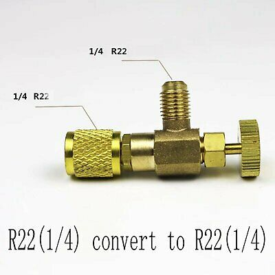 """R22/R410A Refrigeration Charging Valve Adapter For 1/4"""" 5/16"""" Home Safety Tool"""