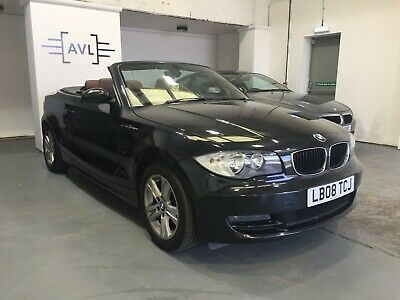 BMW 120i Convertible 2008 '08' in Black with Chocolate Leather, Cam chain done.