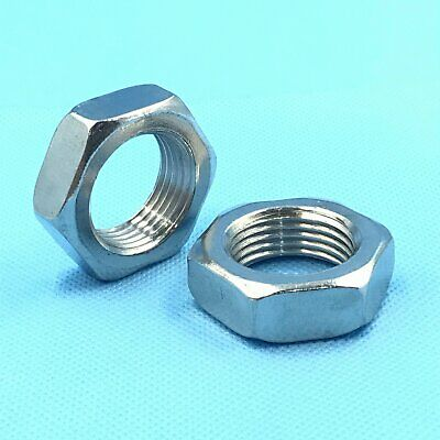 12Pcs Stainless Steel M6 x 1 Hex Nut Right Hand Thread [DORL_A]