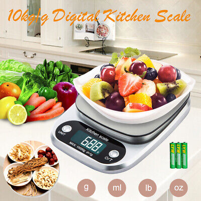 10kg/1g Digital LCD Electronic Kitchen Scale Food Weight Postal Weighing Scales