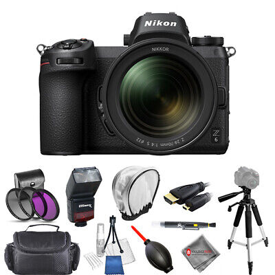 Nikon Z 6 Mirrorless Digital Camera with 24-70mm Lens 1598 Pro Filter Kit Bundle