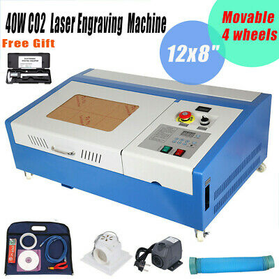 40W CO2 Laser Engraving Cutting Machine Engraver Cutter USB Port 12x8inch USED