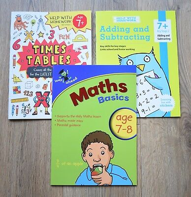 Year 3 Maths 7 8 Bundle Educational Activity Books New Times Tables Letts KS 2