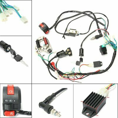 CDI Wire Harness Wiring Loom Coil Rectifier Kit For 50cc 110cc 125cc PIT QuadQ3$