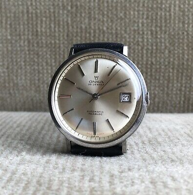 ONSA Automatic - Herrenuhr Stahl with Gold Signs - 34 mm mit ETA 2454 ca. 1960