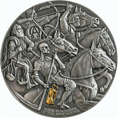 2019 The Four Horsemen Of The Apocalypse 3oz Silver Coin