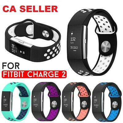 For Fitbit charge 2 Silicone Bracelet wristbands Watch Band Replacement Strap CA