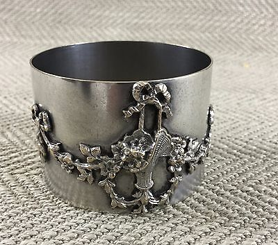 Antique Napkin Ring Holder Monte Carlo Monaco Silver Plate