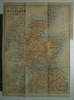 1897 Baedeker Railway Map of Scotland