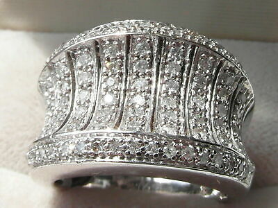 9 Ct Sim Diamond 925 Sterling Silver Mens Engagement Ring 14K White Gold Plated