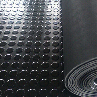 RUBBER FLOOR MATTING SAFETY COIN STYLE ANTI SLIP 1.5m WIDE x 3mm COMMERCIAL