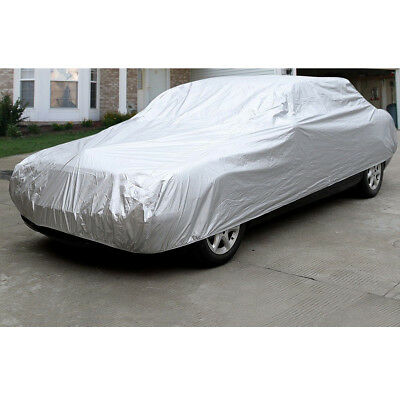 Peva Full Car Cover Protector Elasticated Large Universal With Carry Bag