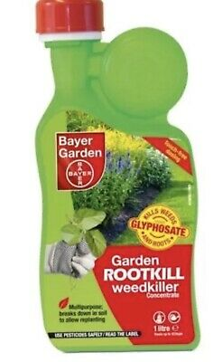 Bayer Garden Rootkill Weedkiller Concentrate - 1 ltr -  Contains Glyphosate