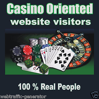 1,000 Real Visitors! CASINO TARGETED website traffic! 100% Adsense Safe!