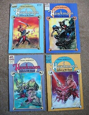 HAWKMOON: The SWORD Of The DRAGON #'s 1-4 (MICHAEL MOORCOCK, 1988), VF/NM