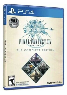 Final Fantasy XIV Complete Edition w/ Shadowbringers PS4 - NEW, Includes 4 games