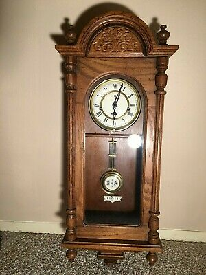 Howard Miller Wind Up  Wall Clock 341-021 Westminster Chimes