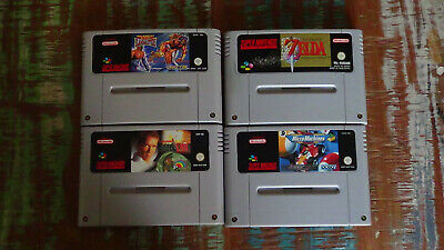 SNES Super Nintendo PAL Sammlung 4 Spiele Zelda True Lies Saturday Night