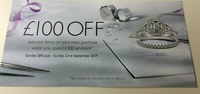 Ernest Jones £100 Off When You Spend £300 Or More Voucher Online only