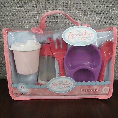 My Sweet Love Baby Doll Feeding Set 6 Piece Doll Accessories ~NEW~